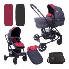 Lorelli Baby stroller Aster Black and Red